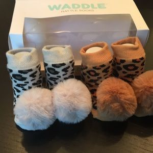 Waddle Rattle Socks -2 pairs.